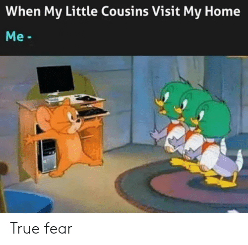 True, Home, and Fear: When My Little Cousins Visit My Home  Me- True fear