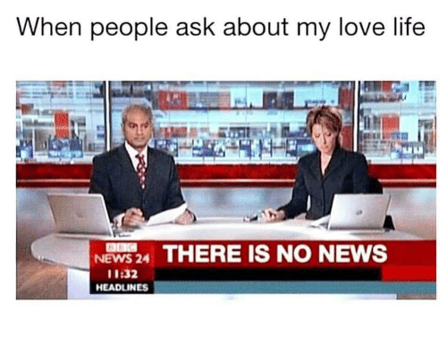 Life, Love, and News: When people ask about my love life  NEWS24 THERE IS NO NEWS  11:32  HEADLINES