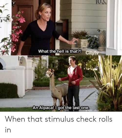 Rolls: When that stimulus check rolls in