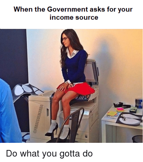 Reddit, Government, and Asks: When the Government asks for your  income source