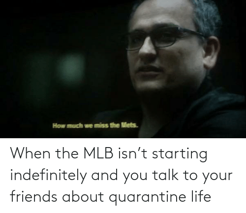 MLB: When the MLB isn't starting indefinitely and you talk to your friends about quarantine life