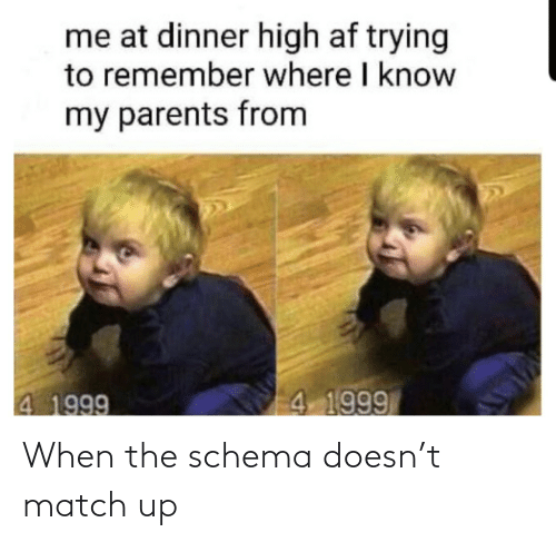 Match, Schema, and  Match Up: When the schema doesn't match up