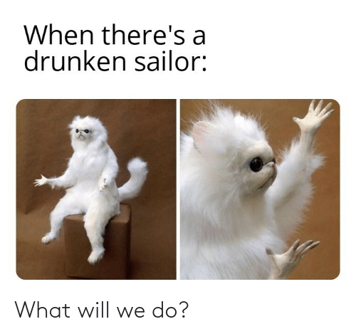 Sailor: When there's a  drunken sailor: What will we do?