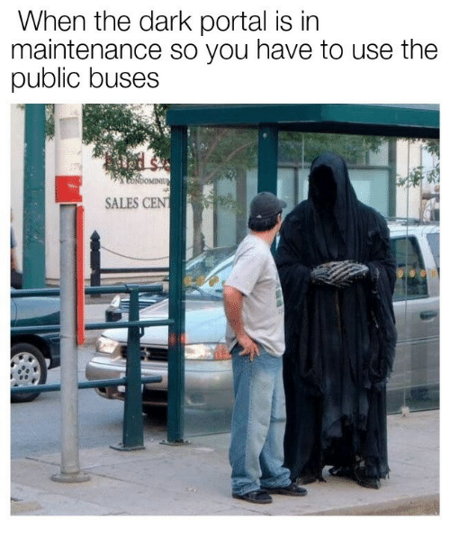 Tne: When tne dark portal is in  maintenance so you have to use the  public buses  SALES CENT