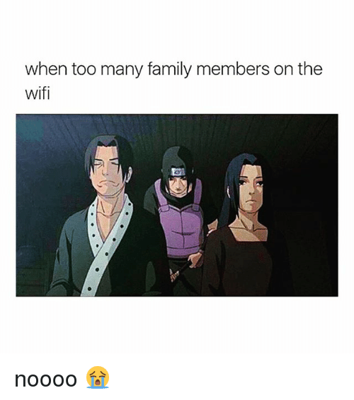 Wifie: when too many family members on the  wifi  ai noooo 😭