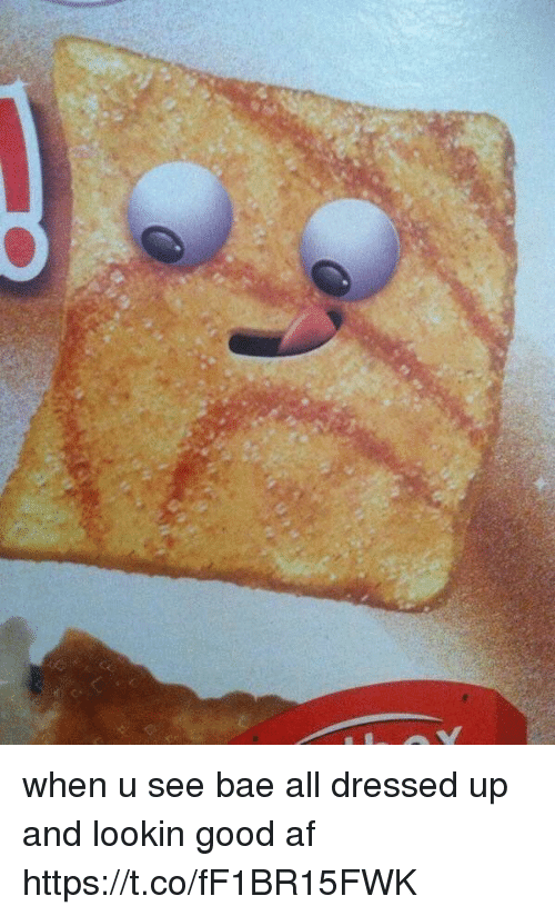 When U See Bae: when u see bae all dressed up and lookin good af https://t.co/fF1BR15FWK