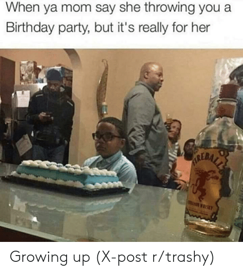 Birthday, Growing Up, and Party: When ya mom say she throwing you a  Birthday party, but it's really for her  ALERALE  KY Growing up (X-post r/trashy)