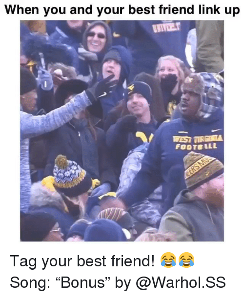 """Best Friend, Funny, and Best: When you and your best friend link up Tag your best friend! 😂😂 Song: """"Bonus"""" by @Warhol.SS"""