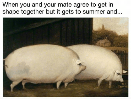 Summer, Classical Art, and You: When you and your mate agree to get in  shape together but it gets to summer and