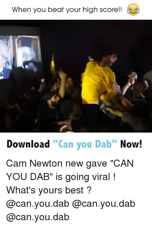 a569e6389c3f Cam Newton, Funny, and Beats: When you beat your high score!
