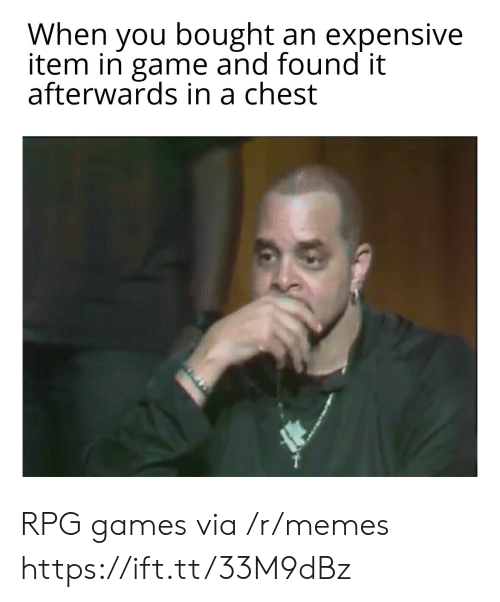 Found It: When you bought an expensive  item in game and found it  afterwards in a chest RPG games via /r/memes https://ift.tt/33M9dBz