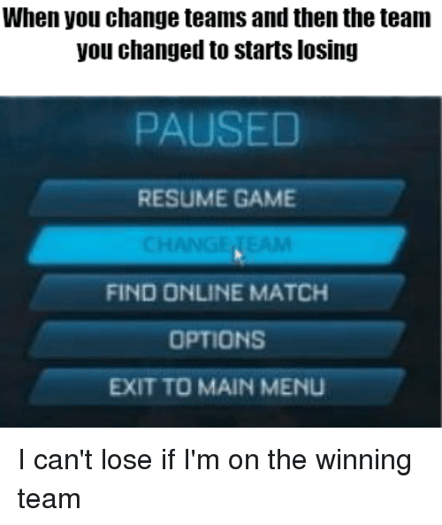 When You Change Teams and Then the Teamm You Changed to