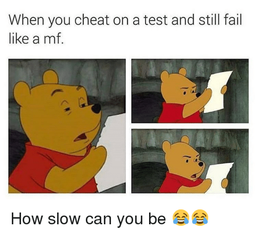 Fail, Funny, and Test: When you cheat on a test and still fail  like a mf. How slow can you be 😂😂