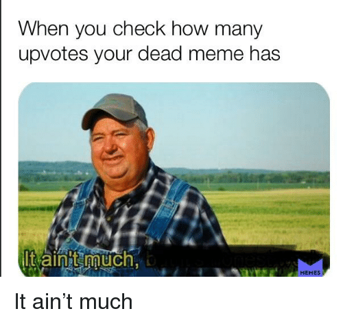 Meme, Memes, and Dank Memes: When you check how many  upvotes your dead meme has  aint much  MEMES