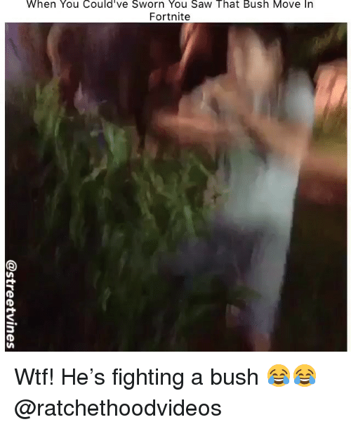 When You Could've Sworn You Saw That Bush Move in Fortnite
