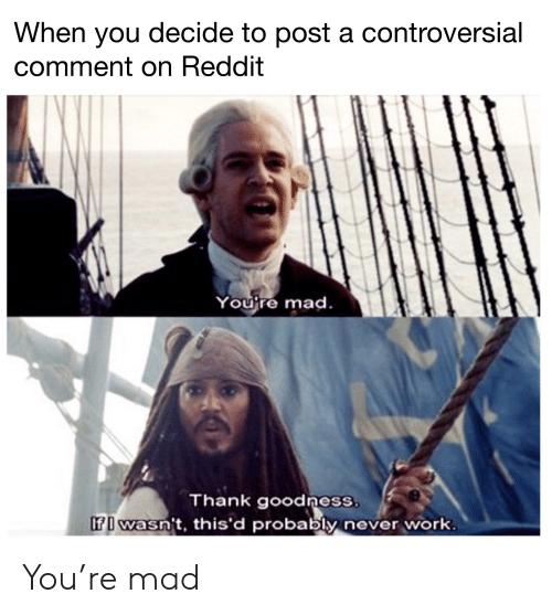When You Decide to Post a Controversial Comment on Reddit Youjre Mad