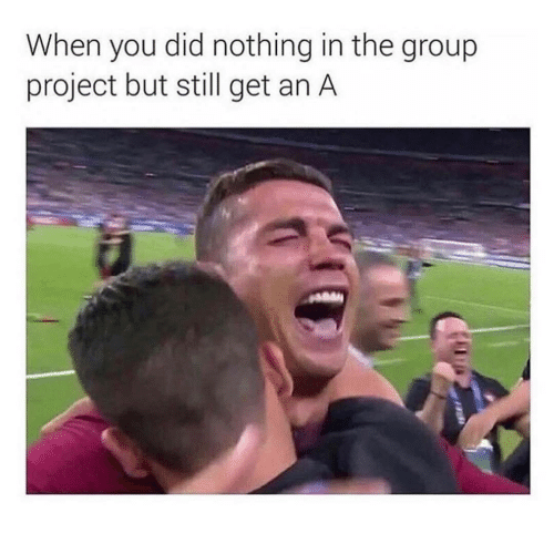 Group Project: When you did nothing in the group  project but still get an A