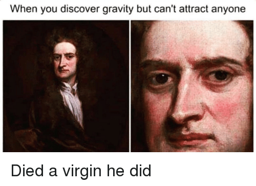 Reddit, Virgin, and Discover: When you discover gravity but can't attract anyone