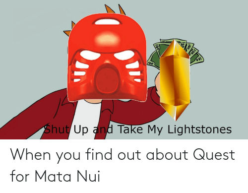 When You Find Out: When you find out about Quest for Mata Nui
