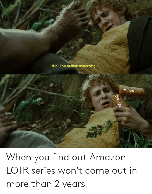 When You Find Out: When you find out Amazon LOTR series won't come out in more than 2 years