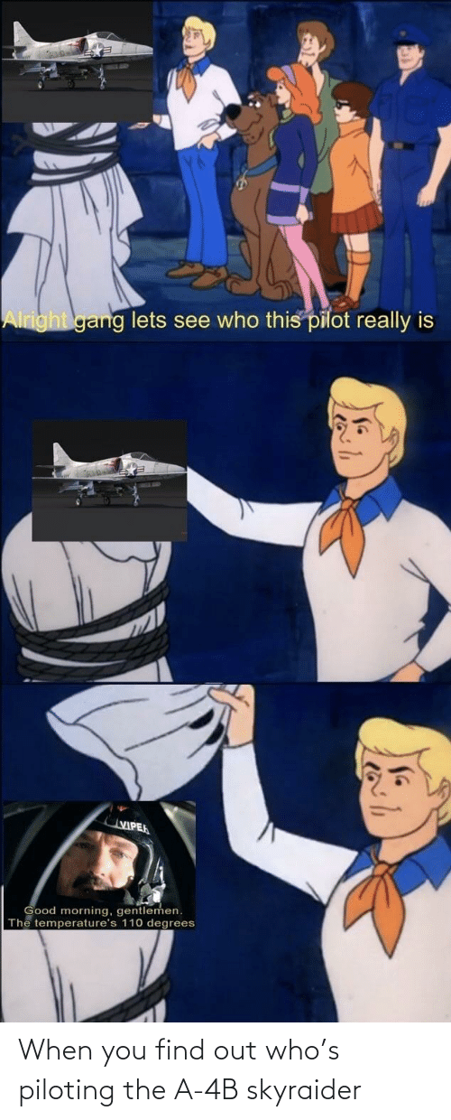 When You Find Out: When you find out who's piloting the A-4B skyraider