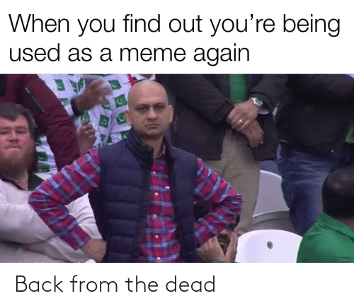 Meme, Reddit, and Back: When you find out you're being  used as a meme again Back from the dead