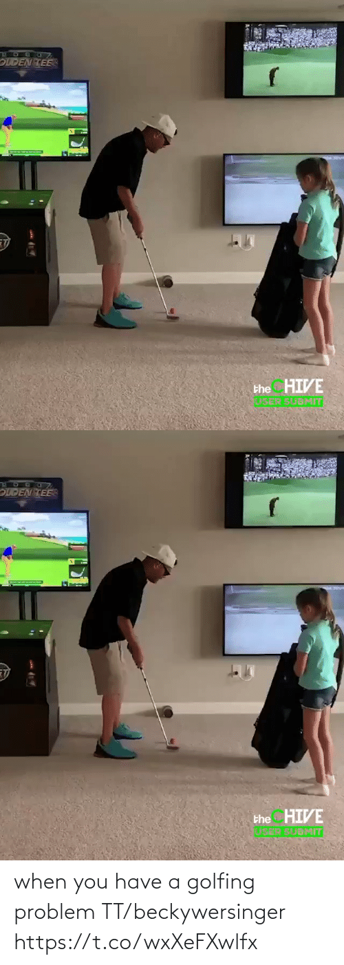 When You Have: when you have a golfing problem TT/beckywersinger https://t.co/wxXeFXwlfx