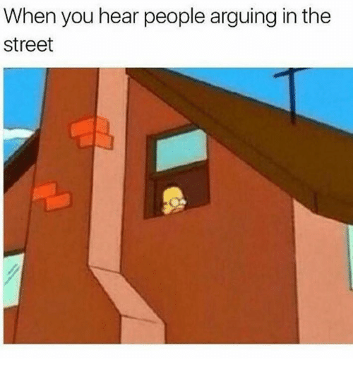 Memes, 🤖, and You: When you hear people arguing in the  street