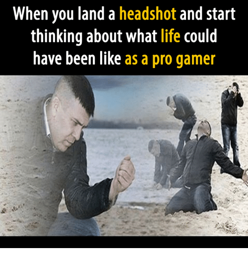 pro gamers: When you land a headshot and start  thinking about what life could  have been like  as a pro gamer