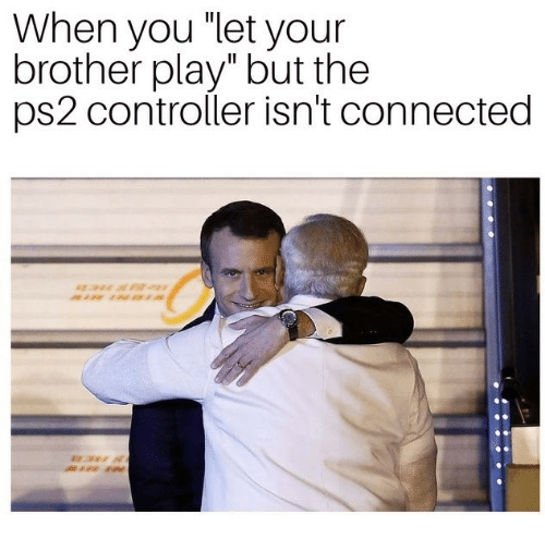 """ps2: When you """"let your  brother play"""" but the  ps2 controller isn't connected"""