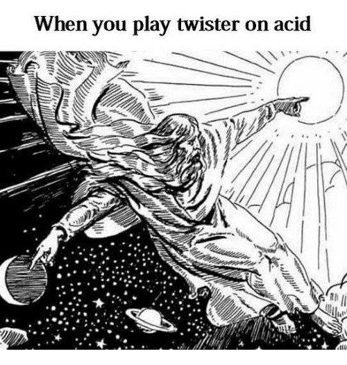 acids: When you play twister on acid