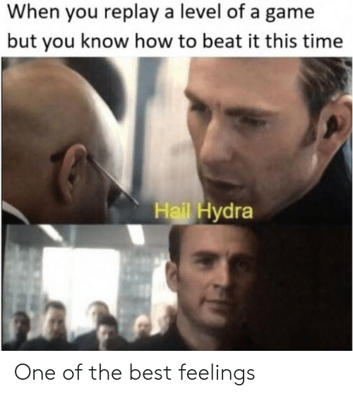 Best, Game, and How To: When you replay a level of a game  but you know how to beat it this time  Hail Hydra One of the best feelings