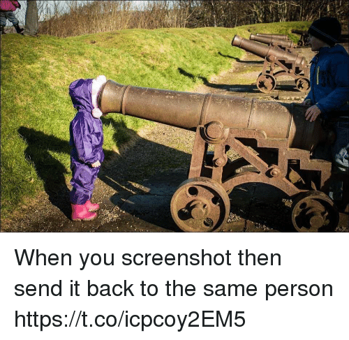 Sended: When you screenshot then send it back to the same person https://t.co/icpcoy2EM5