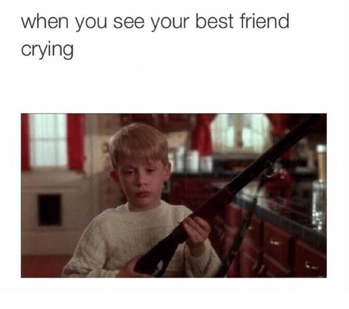 Best Friend, Crying, and Best: when you see your best friend  crying
