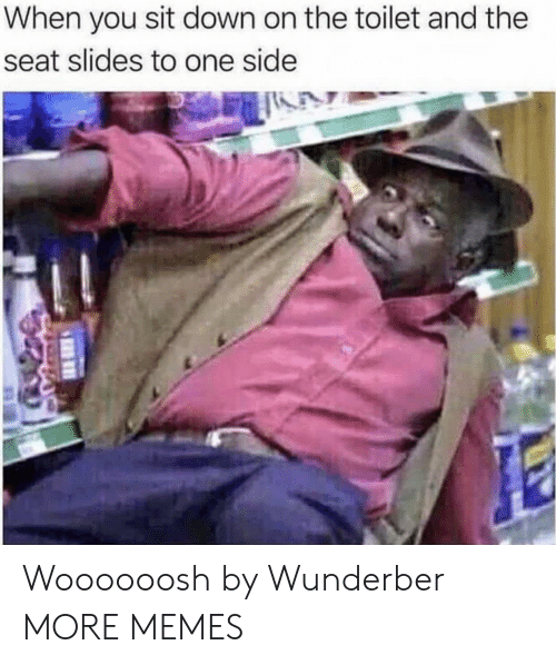 Dank, Memes, and Target: When you sit down on the toilet and the  seat slides to one side Woooooosh by Wunderber MORE MEMES
