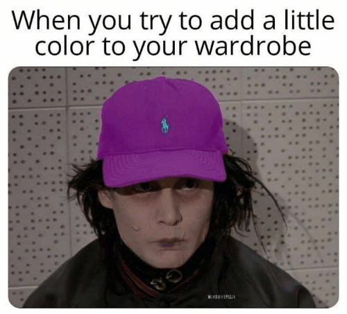 Memes, 🤖, and Add: When you try to add a little  color to your wardrobe  WINDOWSPILLA
