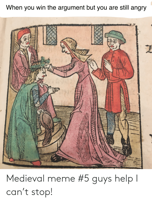 Meme 5: When you win the argument but you are still angry Medieval meme #5 guys help I can't stop!