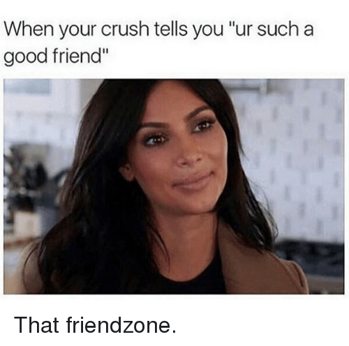 "Friendzoning: When your crush tells you""ur such a  good friend"" That friendzone."