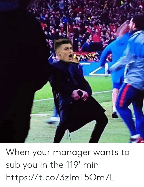Memes, 🤖, and You: When your manager wants to sub you in the 119' min https://t.co/3zImT5Om7E