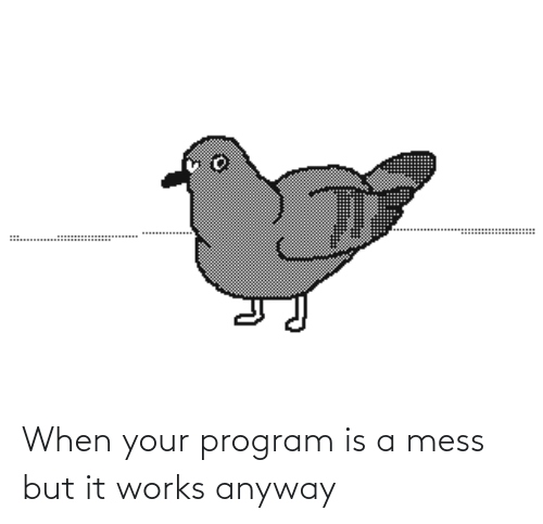 When Your: When your program is a mess but it works anyway