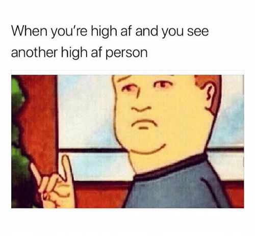 Af, Memes, and High AF: When you're high af and you see  another high af person