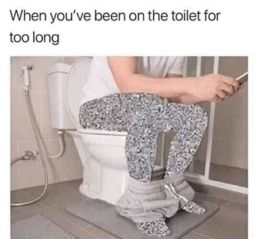 On The Toilet: When you've been on the toilet for  too long