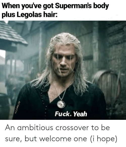 Youve Got: When you've got Superman's body  plus Legolas hair:  Fuck. Yeah  u/J_Calen_Up An ambitious crossover to be sure, but welcome one (i hope)