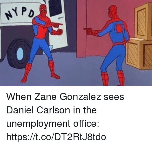 Sports, Office, and Unemployment: When Zane Gonzalez sees Daniel Carlson in the unemployment office: https://t.co/DT2RtJ8tdo
