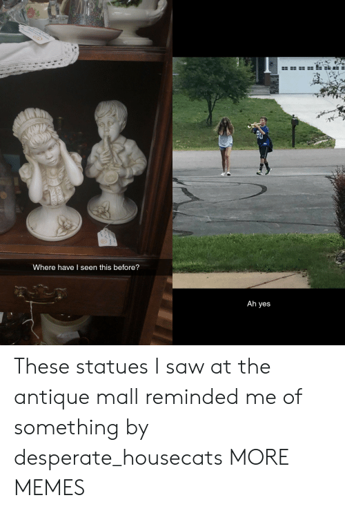 Dank, Desperate, and Memes: Where have I seen this before?  Ah yes These statues I saw at the antique mall reminded me of something by desperate_housecats MORE MEMES