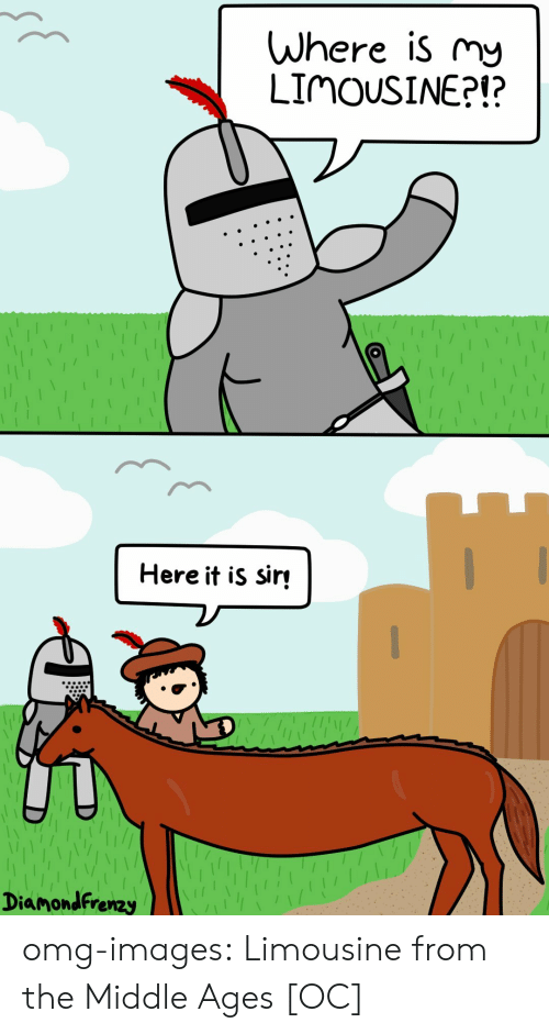 Omg, Tumblr, and Blog: Where is my  LIMOUSINE?!?  Here it is sir  Diamondfrenzy omg-images:  Limousine from the Middle Ages [OC]