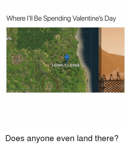 Memes, Valentine's Day, and 🤖: Where l'll Be Spending Valentine's Day  LONELY LODGE Does anyone even land there?