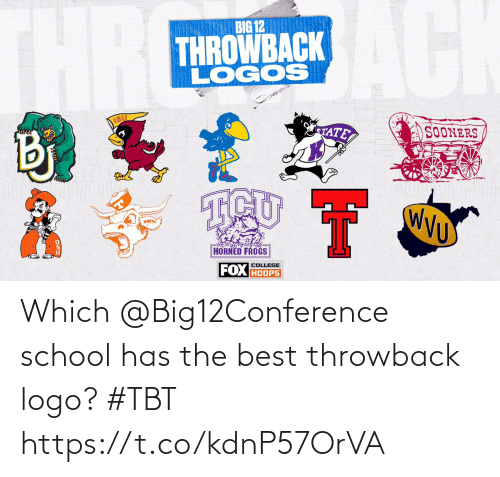 TBT: Which @Big12Conference school has the best throwback logo? #TBT https://t.co/kdnP57OrVA