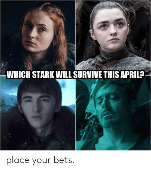 Bets: WHICH STARK WILL SURVIVE THIS APRIL? place your bets.