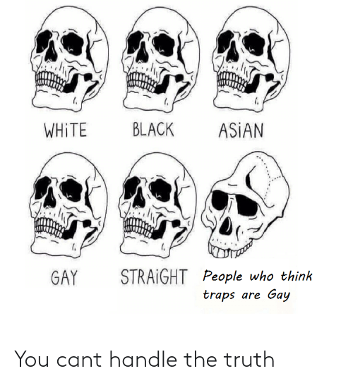 asian gay: WHİTE BLACK ASİAN  GAY STRAIGHT People who think  traps are Gay You cant handle the truth